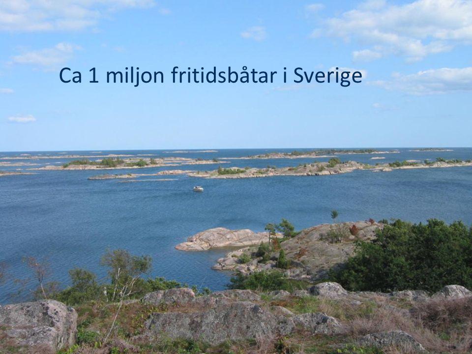 Ca 1 miljon fritidsbåtar i Sverige