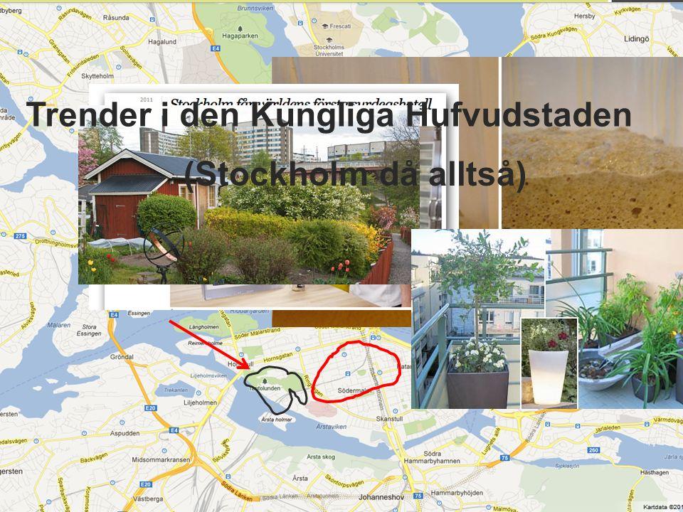 Trender i den Kungliga Hufvudstaden (Stockholm då alltså)