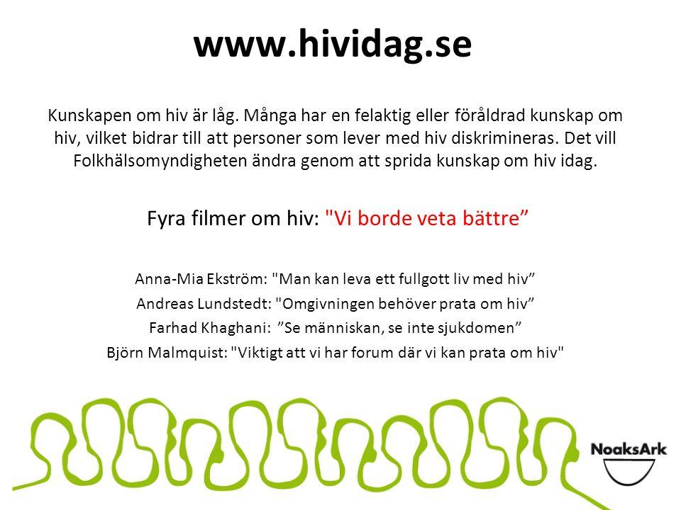 www.hividag.se Kunskapen om hiv är låg. Många har en felaktig eller föråldrad kunskap om hiv, vilket bidrar till att personer som lever med hiv diskri