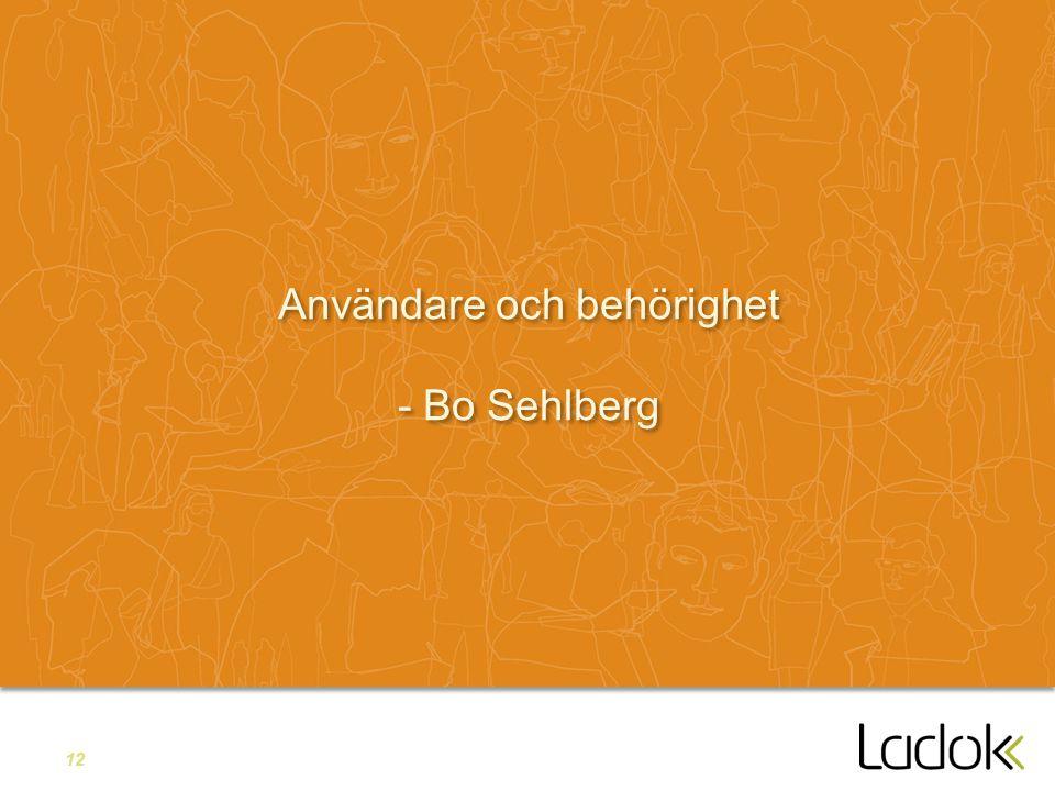 12 Användare och behörighet - Bo Sehlberg
