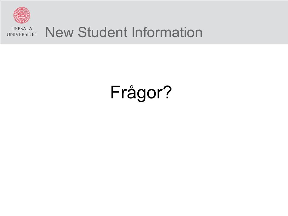 Studentportalen Logga in i Studentportalen.Lösenord A WiFi i egen dator.