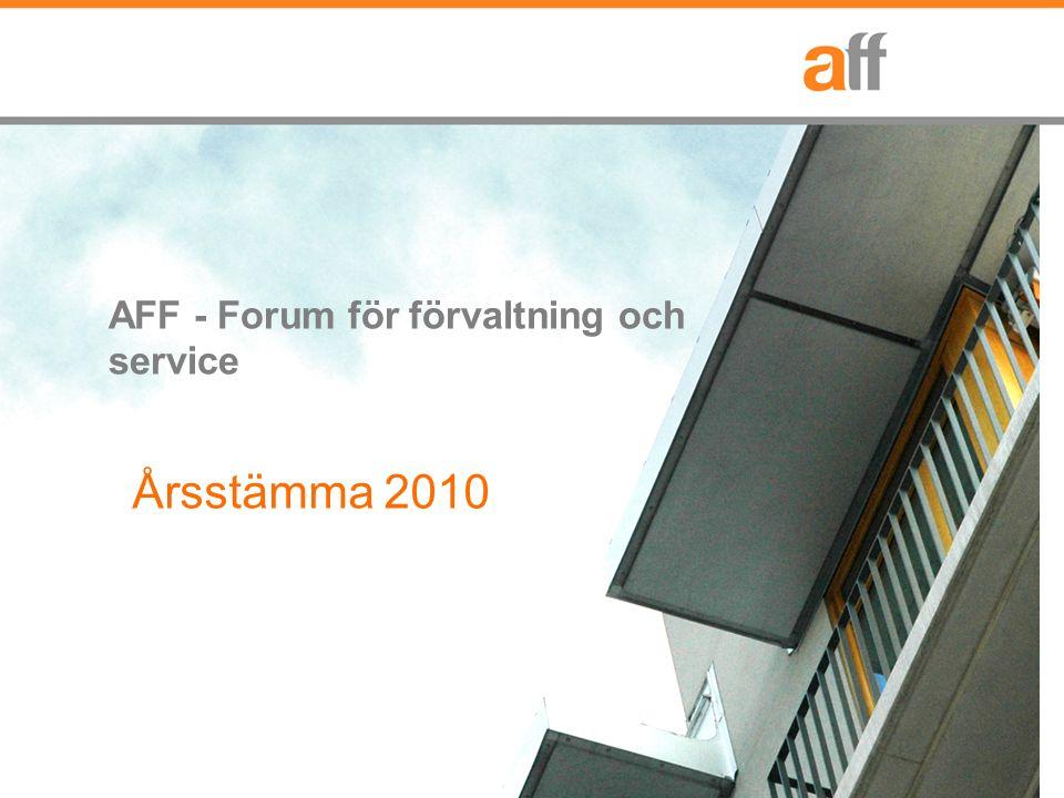 AFF - Forum för förvaltning och service Årsstämma 2010