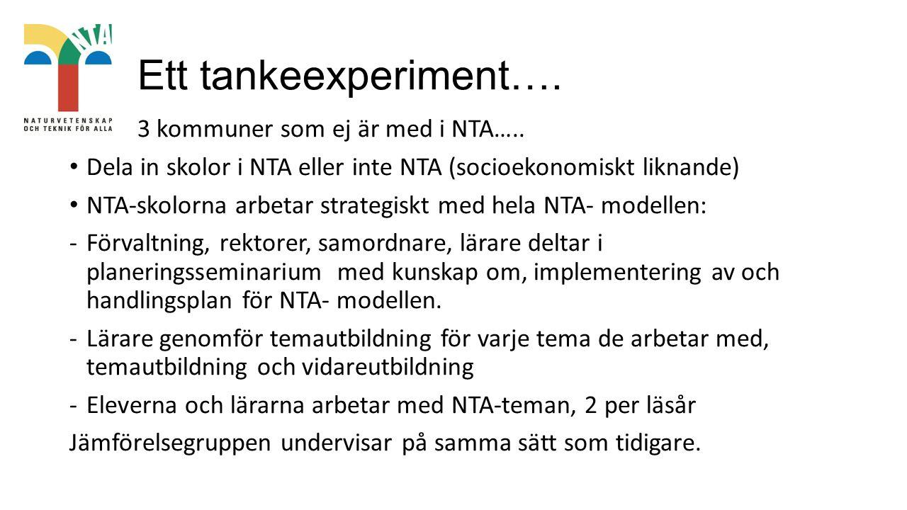 Ett tankeexperiment…. 3 kommuner som ej är med i NTA…..