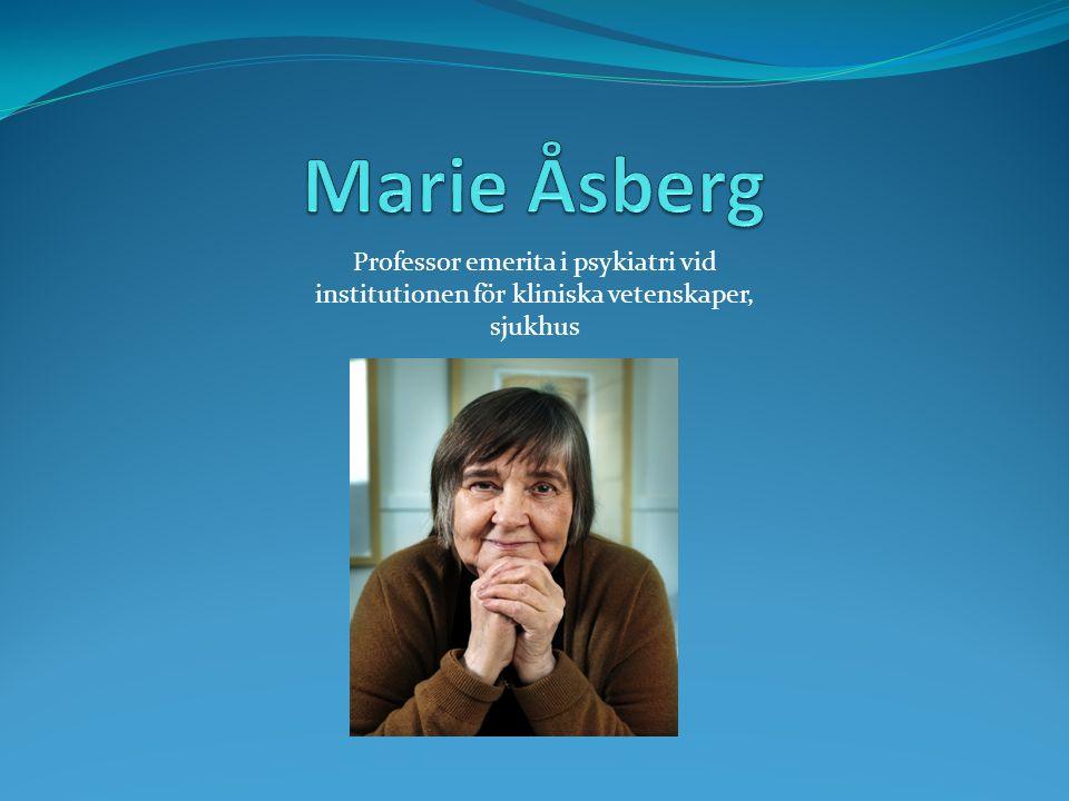 Professor emerita i psykiatri vid institutionen för kliniska vetenskaper, sjukhus