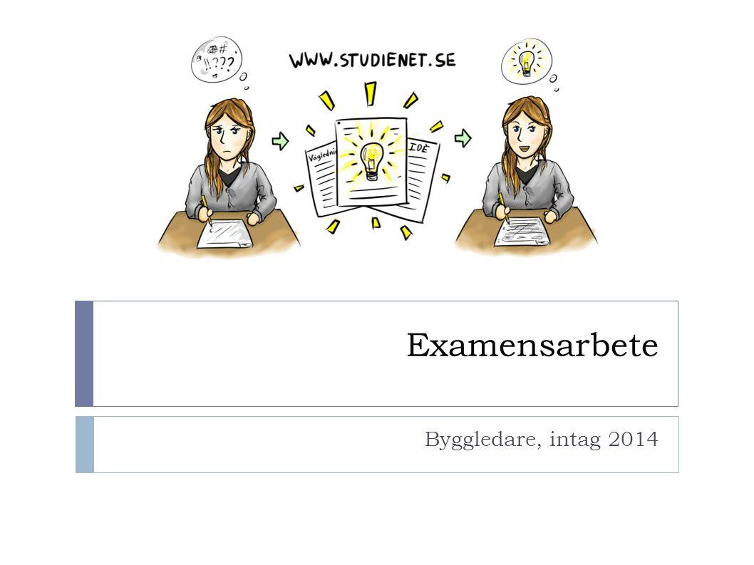 Examensarbete Byggledare, intag 2014