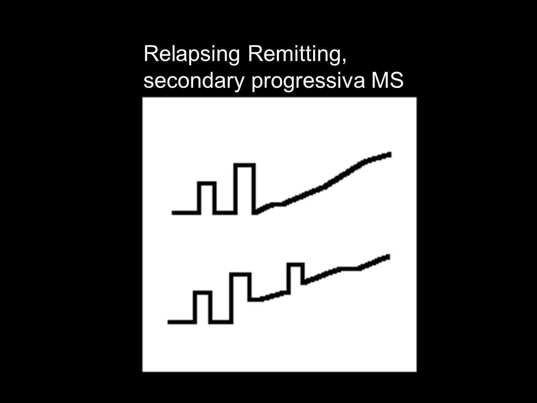 Relapsing Remitting, secondary progressiva MS
