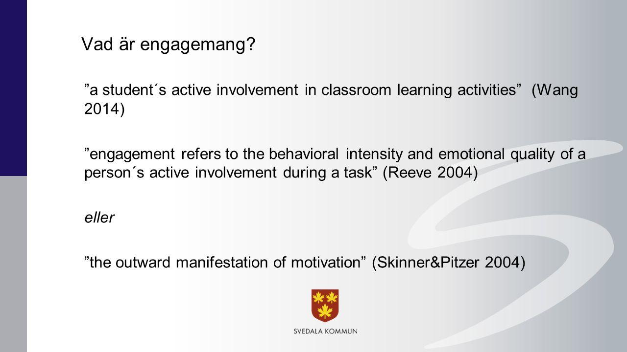 Kommunikation Relation till andra begrepp? Engagemang Innehåll Relevans Attityd Motivation Intresse