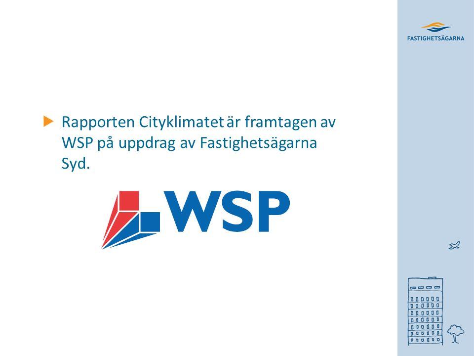 Rapporten Cityklimatet är framtagen av WSP på uppdrag av Fastighetsägarna Syd.