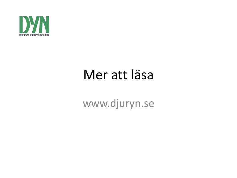 Mer att läsa www.djuryn.se