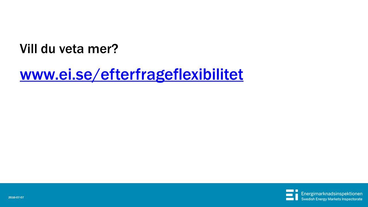Vill du veta mer www.ei.se/efterfrageflexibilitet 2016-07-07