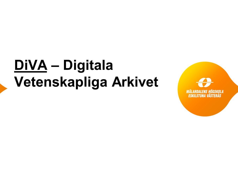 DiVA – Digitala Vetenskapliga Arkivet