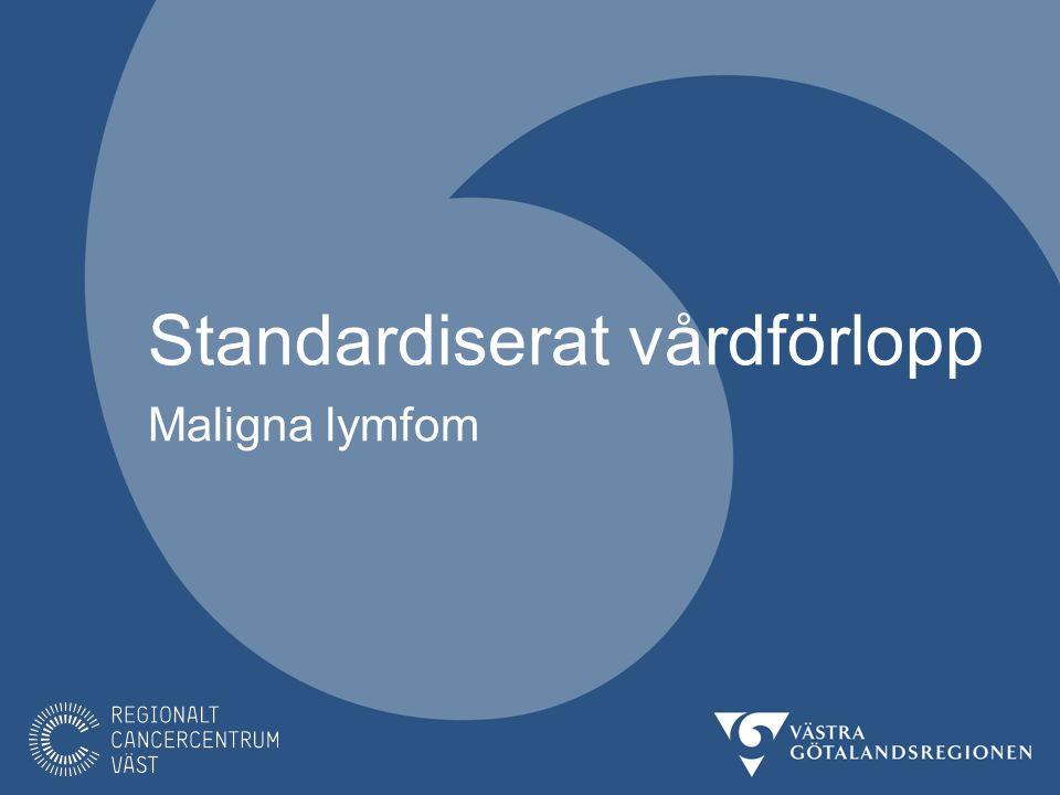 SVF kan avslutas före behandlingsstart Den välgrundade misstanken avskrivs Vid diagnos KLL avbryts SVF lymfom och vårdprogram följs Vid annan diagnos remitteras patienten till rätt enhet STANDARDISERAT VÅRDFÖRLOPP MALIGNA LYMFOM