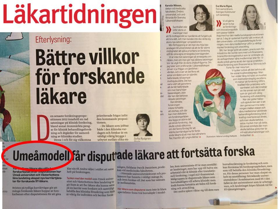 Patrik Danielson Prodekanus Umeå universitet Medicinska fakulteten Problem.