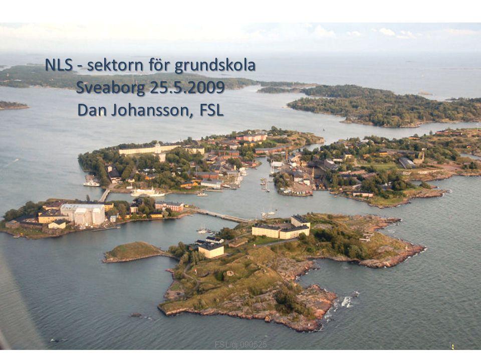 NLS - sektorn för grundskola Sveaborg 25.5.2009 Dan Johansson, FSL 1FSL/dj 090525