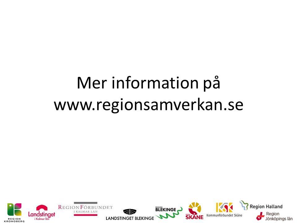 Mer information på www.regionsamverkan.se