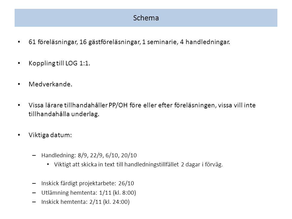 Exempel på projektarbeten, HT2010 Trängselskattens införande i Göteborg 2013.