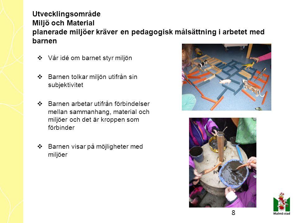 Nya utvecklingsområde 2016-17  IKTNytt övergripande tema o Leken  Gården o Miljö o Material  Alla barns rätt till stöd