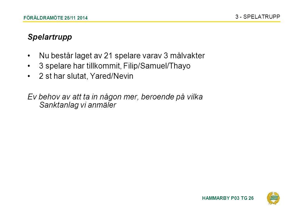 HAMMARBY P03 TG 26 FÖRÄLDRAMÖTE 25/11 2014 12 - SLUT
