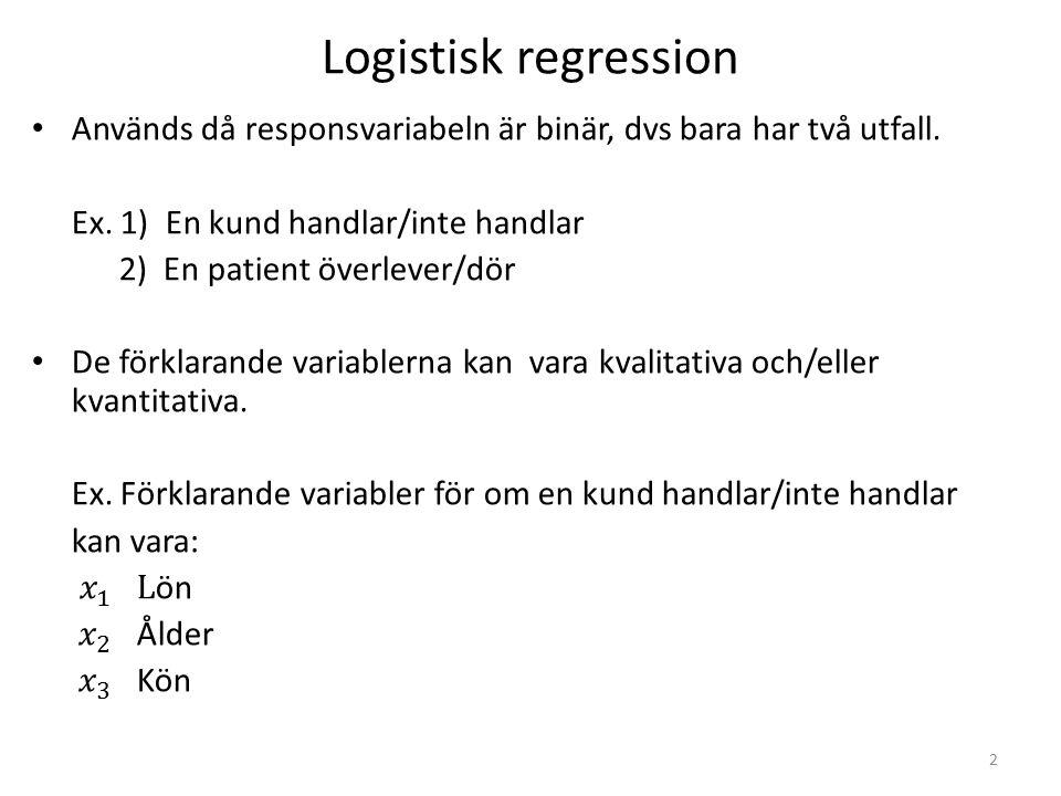 Logistisk regression användbart.Logistisk regression har ökat dramatiskt de senaste 15 åren.