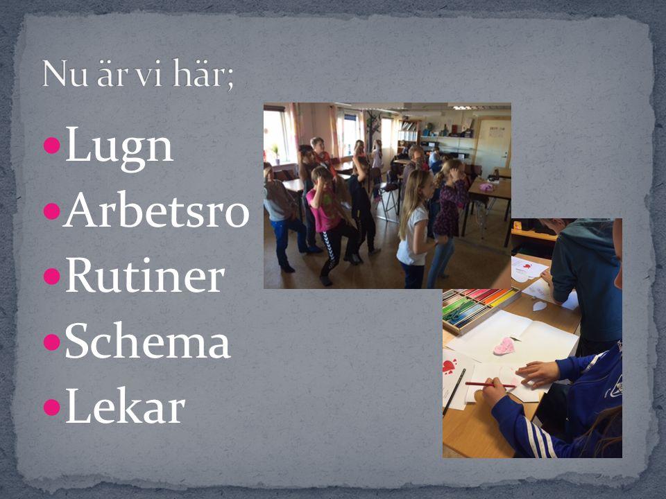 Lugn Arbetsro Rutiner Schema Lekar