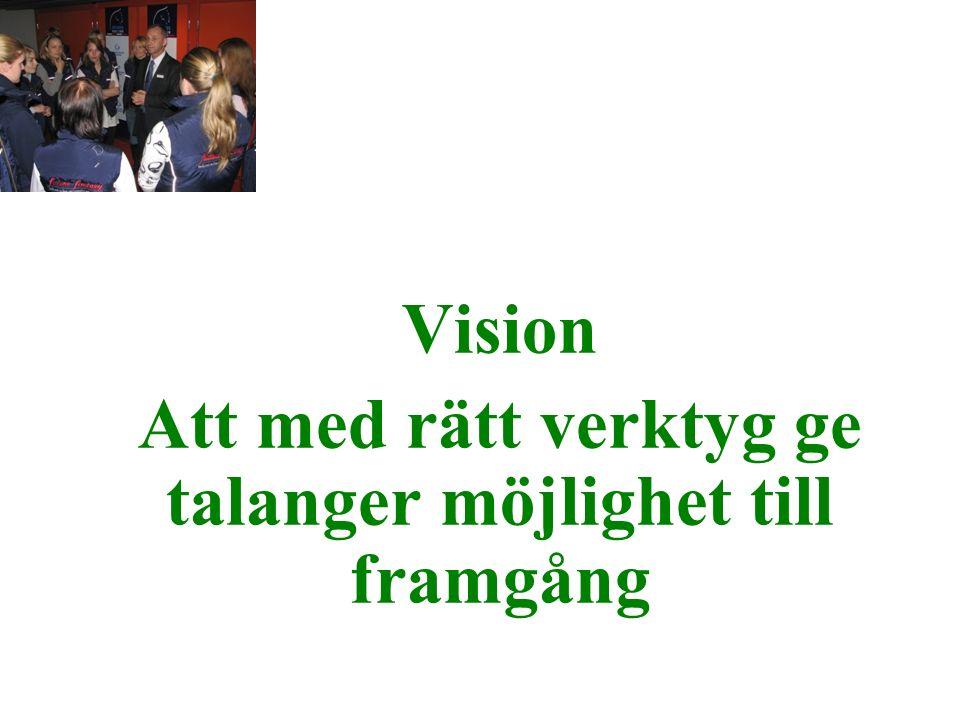 Vision Att med rätt verktyg ge talanger möjlighet till framgång