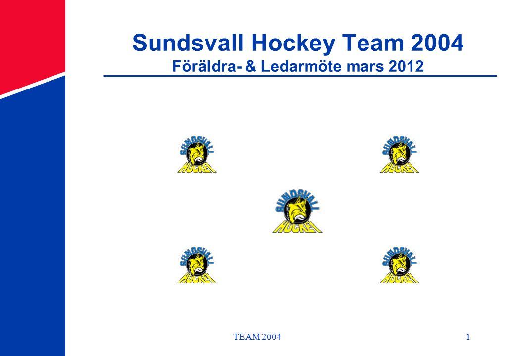 TEAM 20041 Sundsvall Hockey Team 2004 Föräldra- & Ledarmöte mars 2012