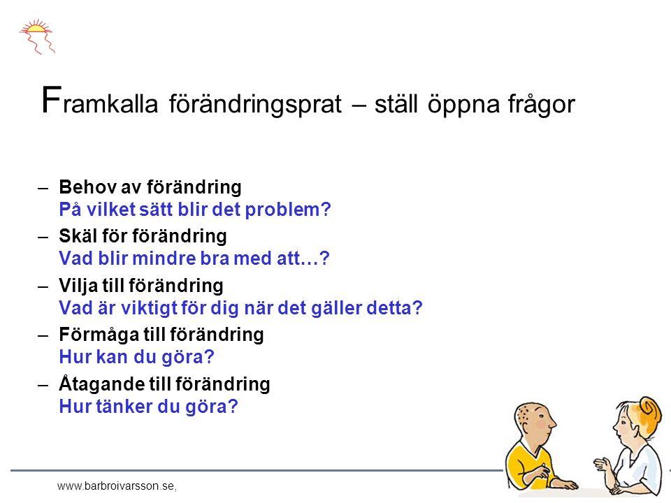 www.barbroivarsson.se, –Behov av förändring På vilket sätt blir det problem.