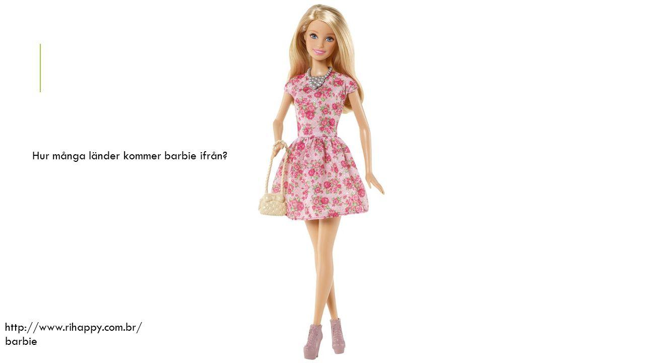 http://www.rihappy.com.br/ barbie Hur många länder kommer barbie ifrån?