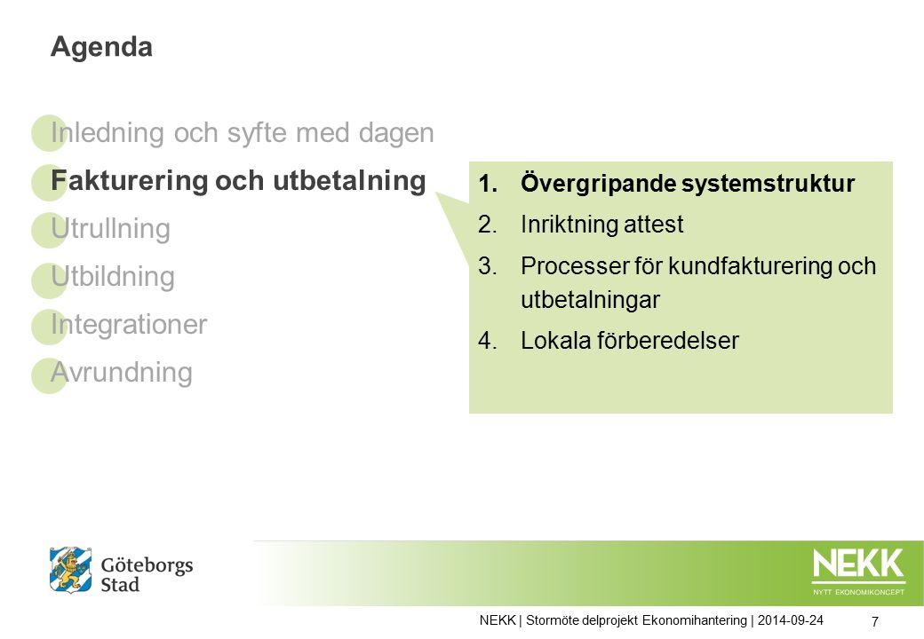 NEKK | Stormöte delprojekt Ekonomihantering | 2014-09-24 28