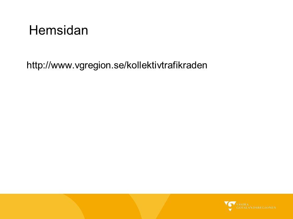 Hemsidan http://www.vgregion.se/kollektivtrafikraden