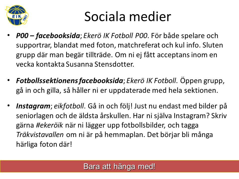 Sociala medier P00 – facebooksida; Ekerö IK Fotboll P00.