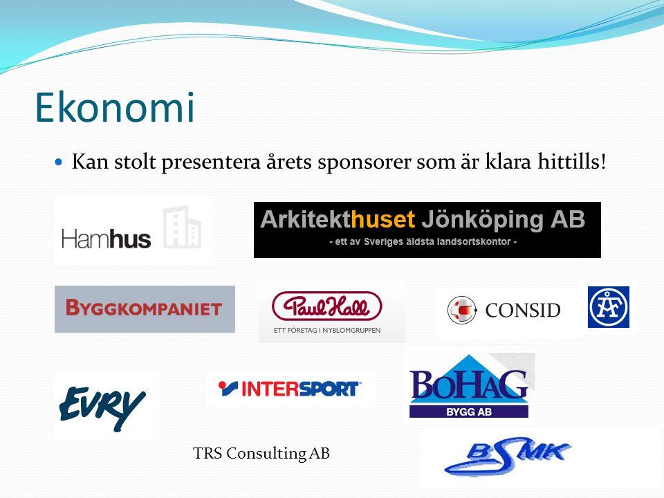 Ekonomi Kan stolt presentera årets sponsorer som är klara hittills! TRS Consulting AB