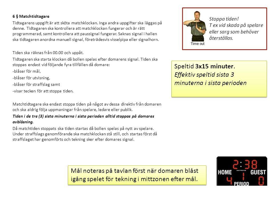7 § Utvisningstid Sekretariatet ska upplysa spelare om vid vilken tid utvisningen upphör.
