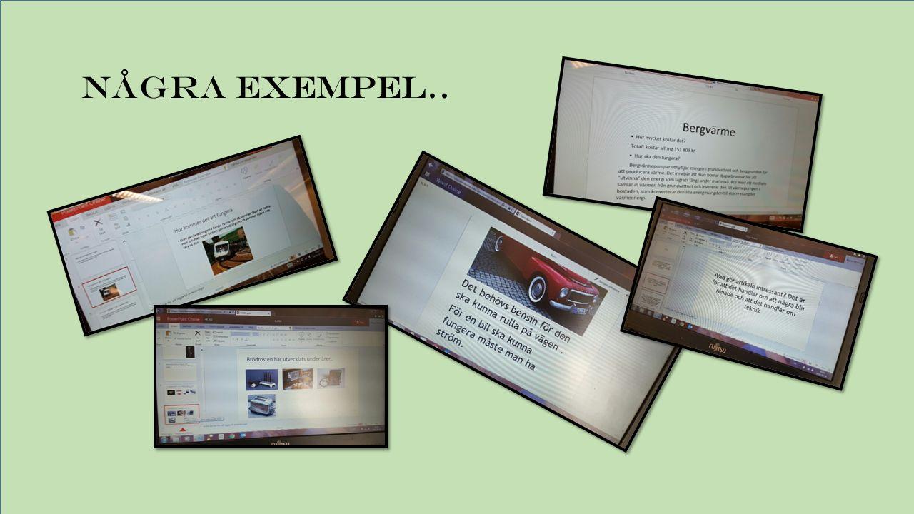 Vi har sedan gjort ett montage med vårt arbete där vi skrivit ner tekniska begrepp vi använt oss av..