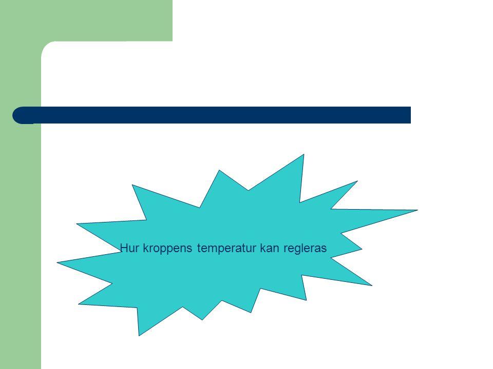 Hur kroppens temperatur kan regleras