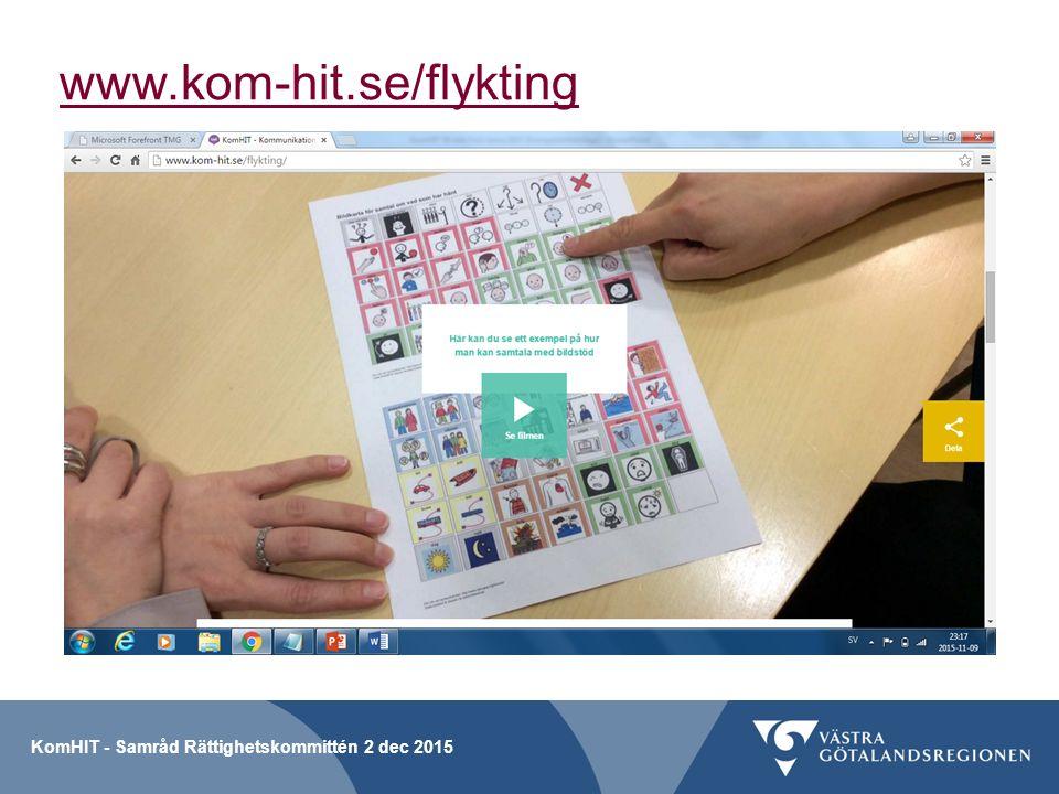 www.kom-hit.se/flykting KomHIT - Samråd Rättighetskommittén 2 dec 2015