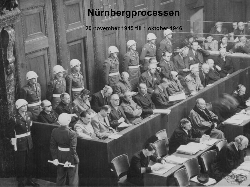 10 Nürnbergprocessen 20 november 1945 till 1 oktober 1946