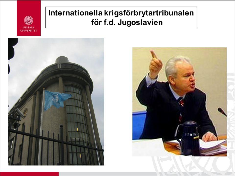 Internationella krigsförbrytartribunalen för f.d. Jugoslavien