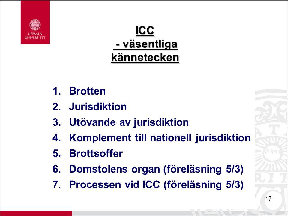 17 ICC - väsentliga kännetecken - väsentliga kännetecken 1.