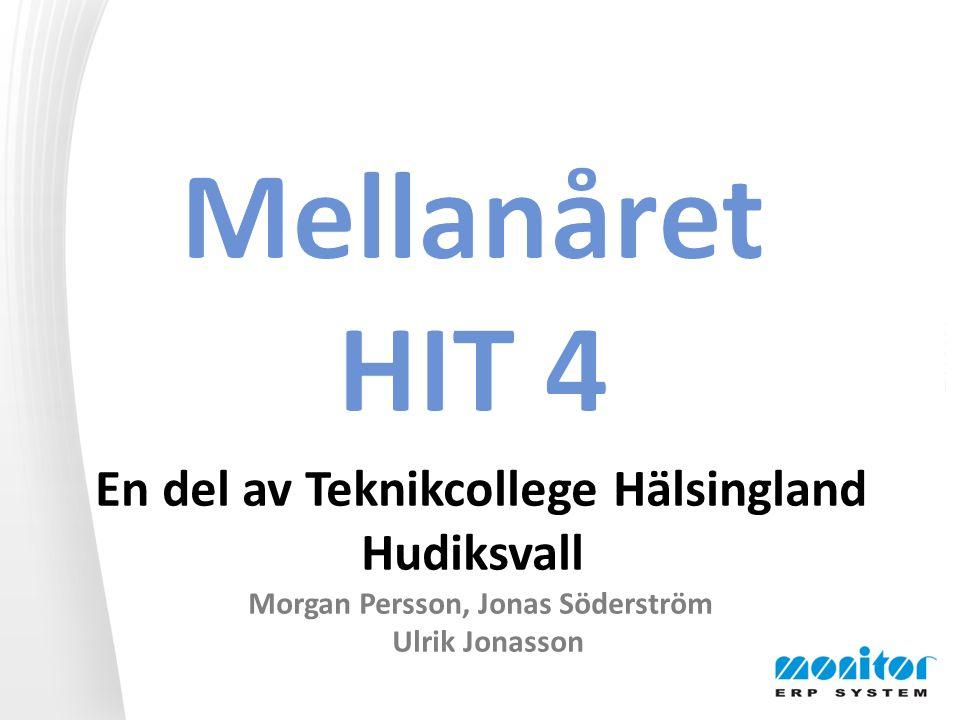 En del av Teknikcollege Hälsingland Hudiksvall Morgan Persson, Jonas Söderström Ulrik Jonasson