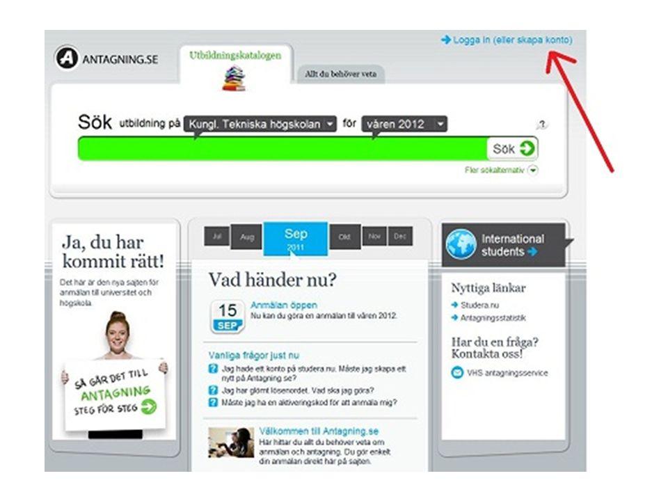 Hur går det till. Kungliga Tekniska Högskolan i rullistan Gå vidare till inloggning .