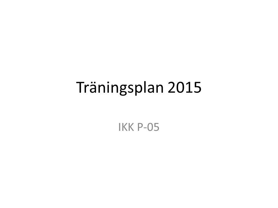 Träningsplan 2015 IKK P-05