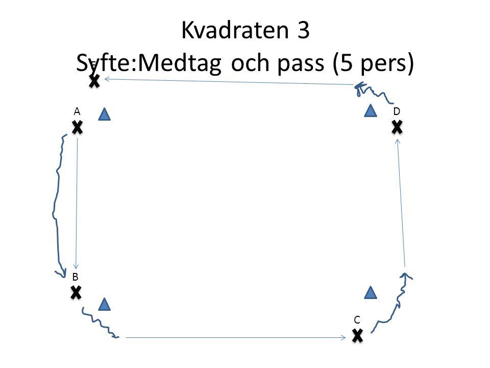 Kvadraten 3 Syfte:Medtag och pass (5 pers) E B C AD