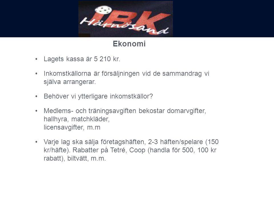 Ekonomi Lagets kassa är 5 210 kr.