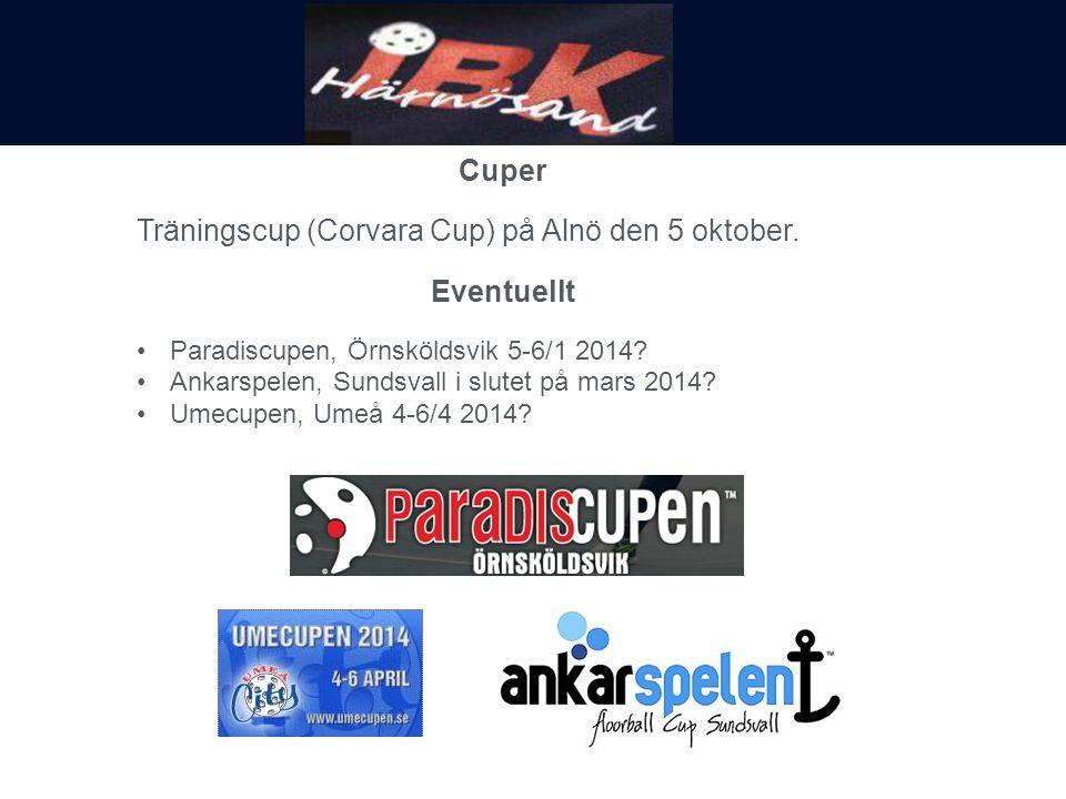 Cuper Träningscup (Corvara Cup) på Alnö den 5 oktober.