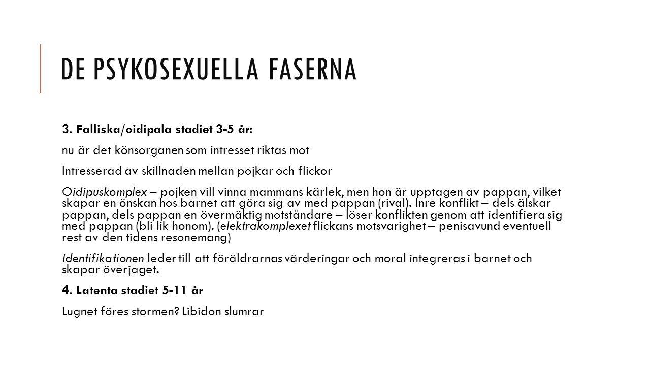 DE PSYKOSEXUELLA FASERNA 3.
