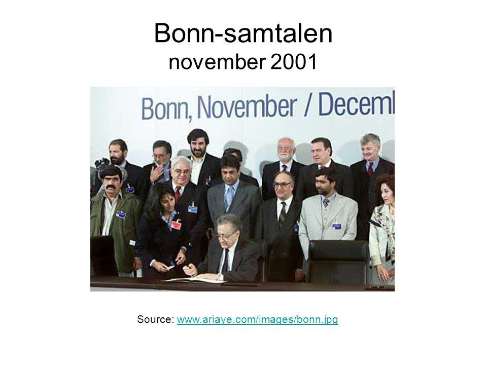 Bonn-samtalen november 2001 Source: www.ariaye.com/images/bonn.jpgwww.ariaye.com/images/bonn.jpg