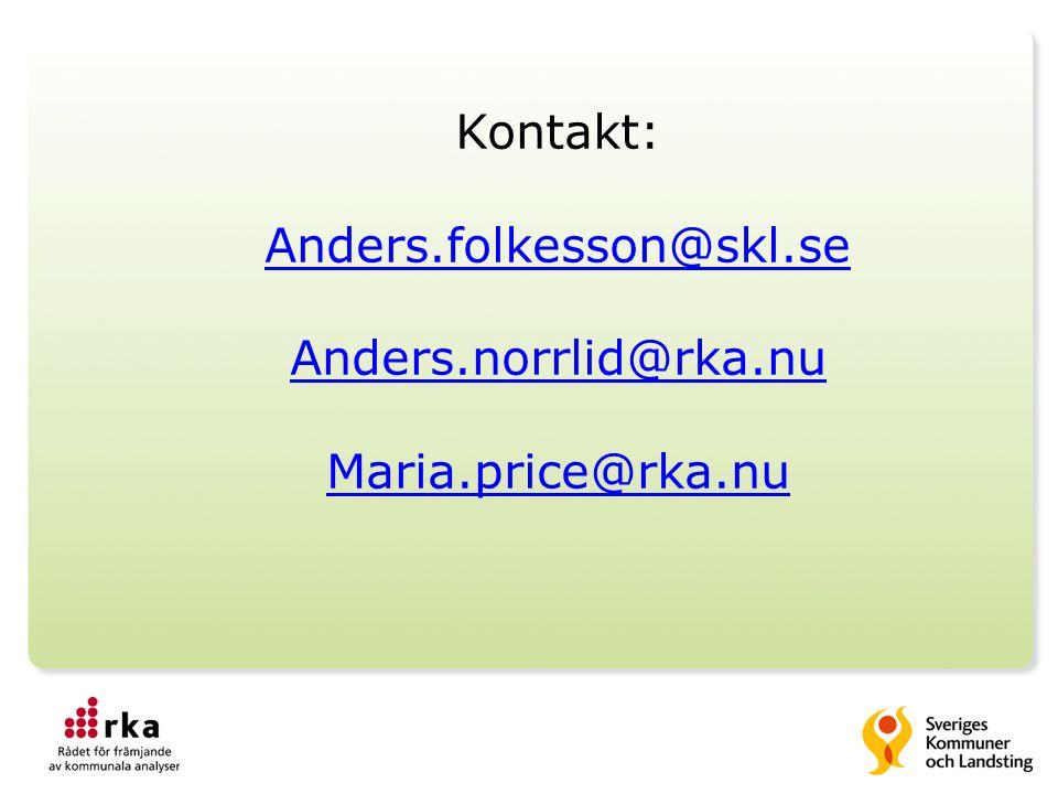 Kontakt: Anders.folkesson@skl.se Anders.norrlid@rka.nu Maria.price@rka.nu