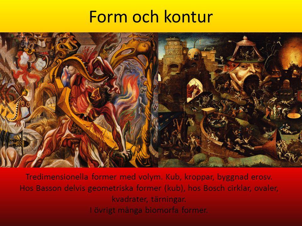 Form och kontur Tredimensionella former med volym.