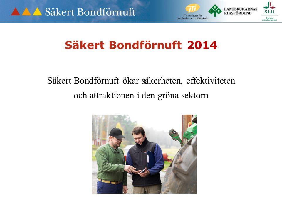 Säkert Bondförnuft 2014 Säkert Bondförnuft ökar säkerheten, effektiviteten och attraktionen i den gröna sektorn